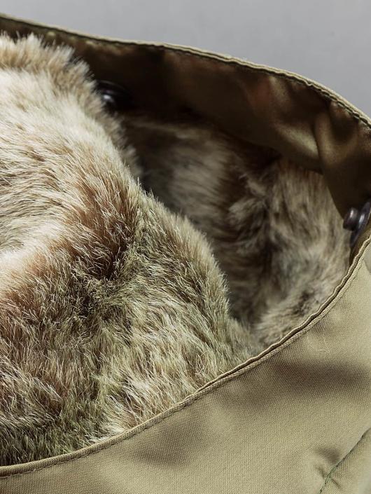 DEF Bomber Fake Fur olive