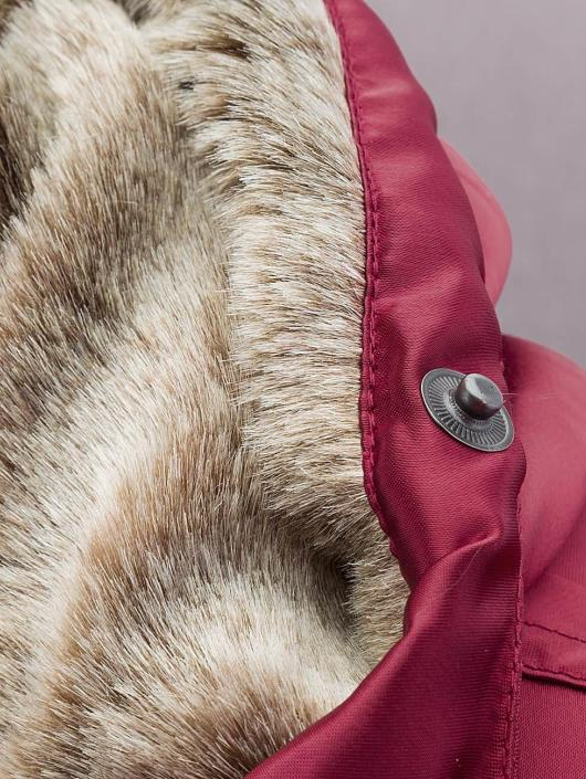 DEF Bomber Fake Fur rouge