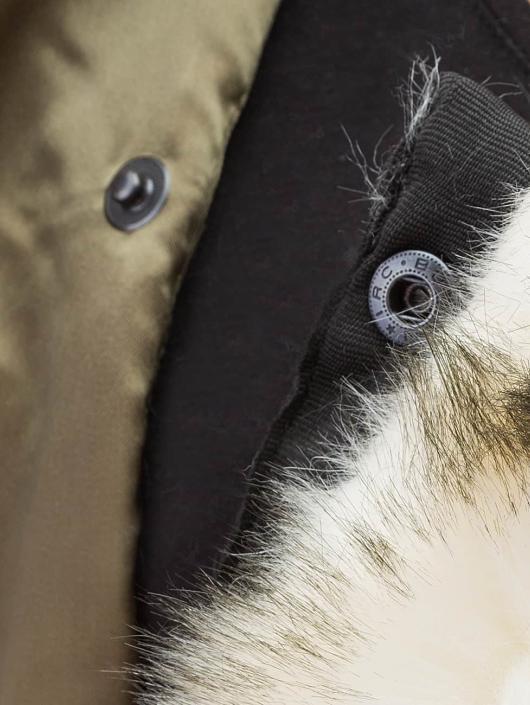 DEF Bomberová bunda Fake Fur olivová