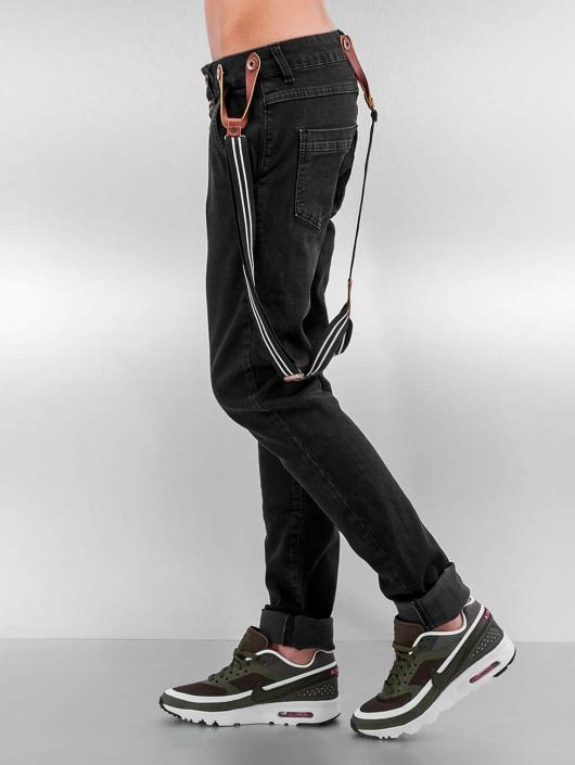 DEF Boyfriend farkut Suspenders II musta