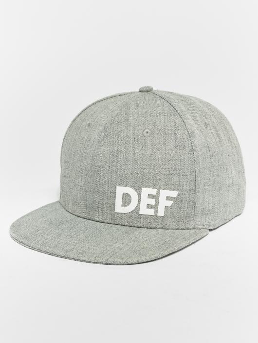 DEF Casquette Snapback & Strapback Logo gris