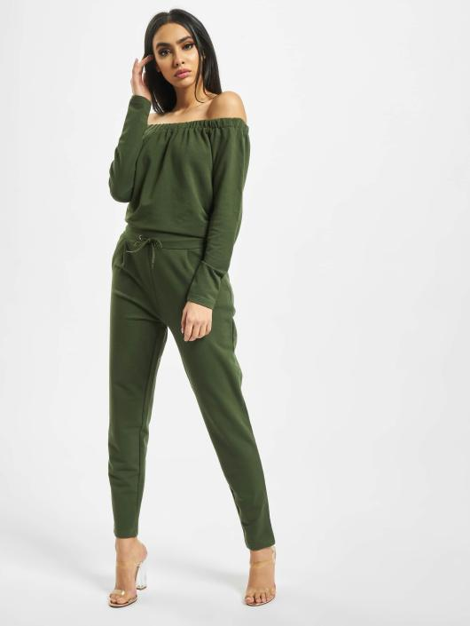 DEF jumpsuit Stretch olijfgroen
