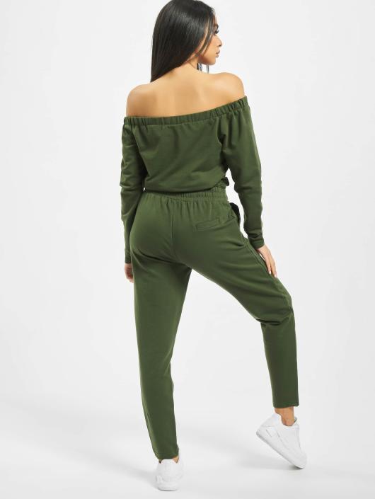 DEF Jumpsuits Stretch oliwkowy