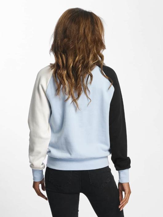 DEF Pullover Colorblocking blau