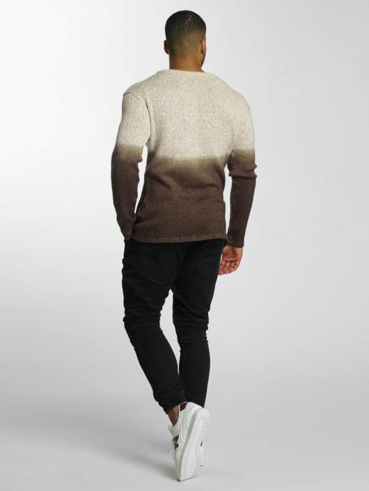 DEF Pullover Dip-Dye brown