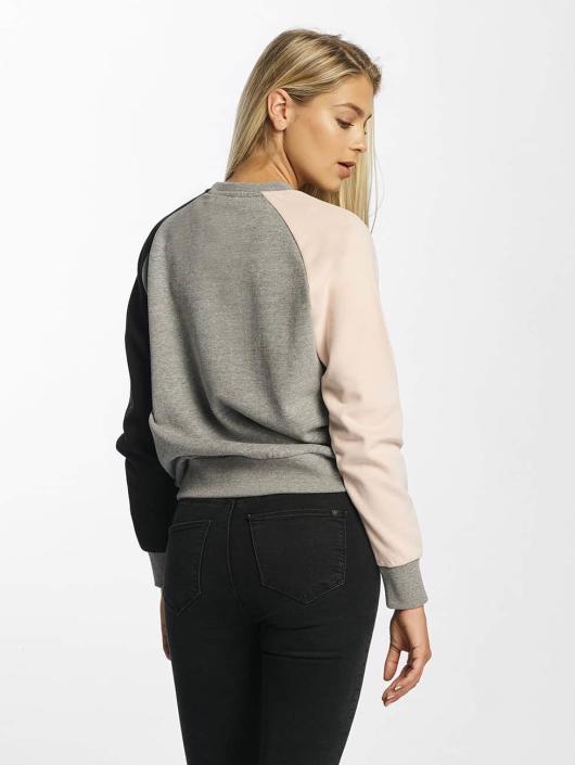 DEF Pullover Colorblocking grau