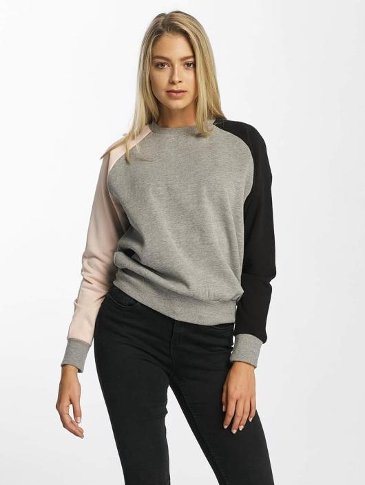 DEF Pullover Colorblocking gray