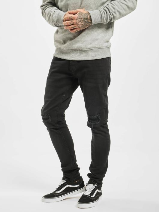 DEF Slim Fit -farkut Ramon musta