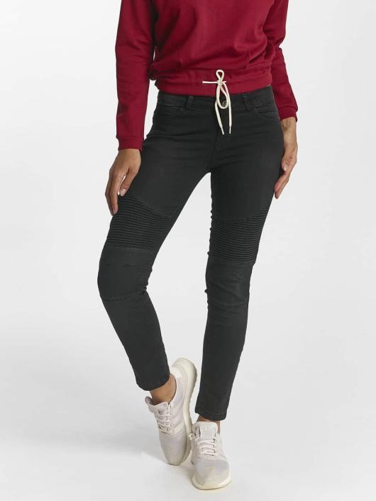DEF Slim Fit Jeans Ribbed schwarz