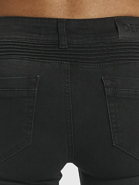 DEF Slim Fit Jeans Ribbed svart