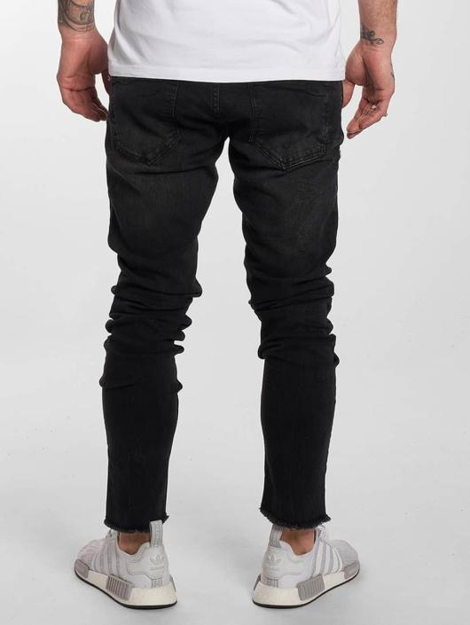 DEF Slim Fit Jeans Fray svart