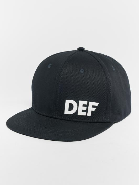 DEF Snapback Cap Logo blau
