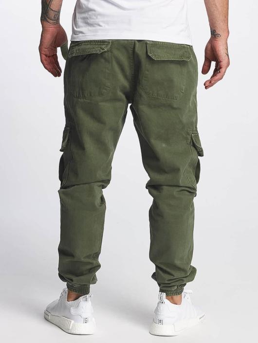 DEF Spodnie Chino/Cargo Kindou oliwkowy