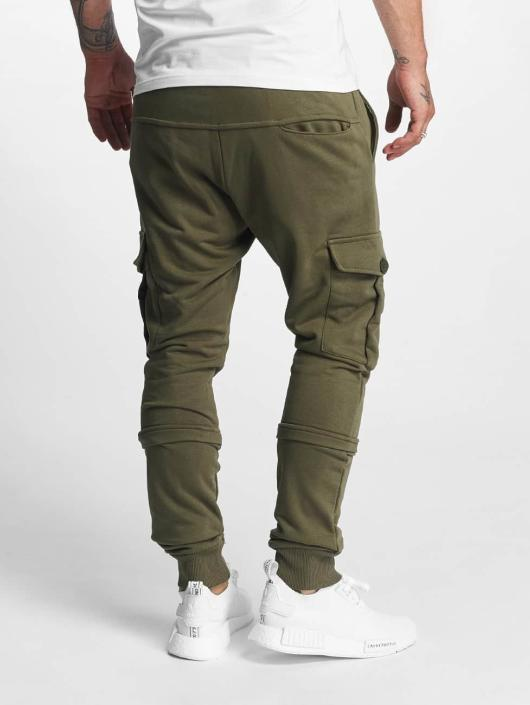 DEF Spodnie do joggingu Soft Cargo oliwkowy