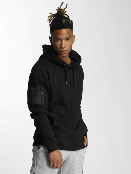 Def Homme Capuche Pocket Noir Sweat Arm 345695 Upper W9DH2EIY
