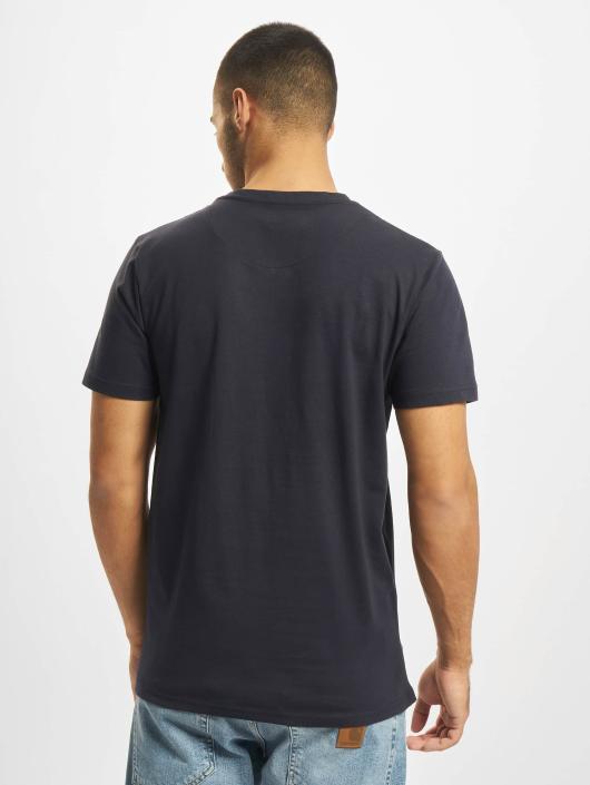 DEF T-Shirt V-Neck blau