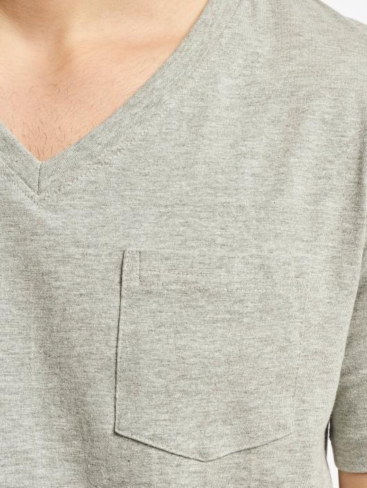 DEF T-Shirt V-Neck gray