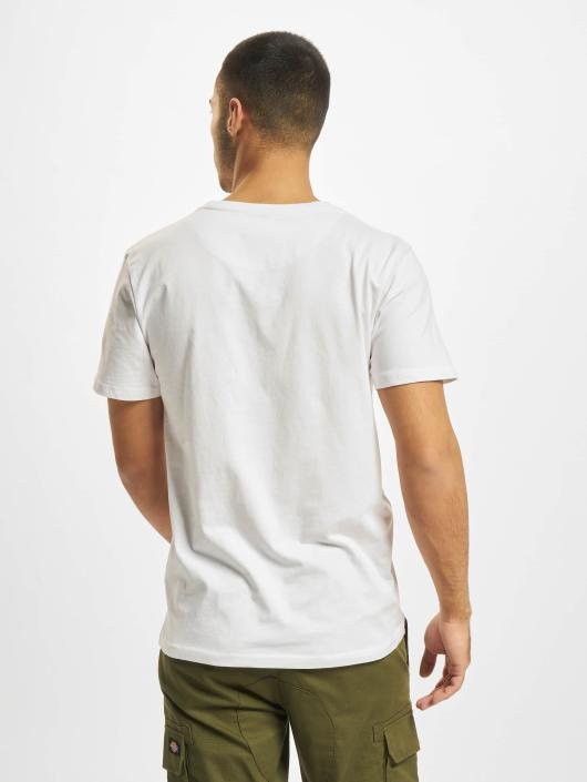 DEF T-Shirty V-Neck bialy