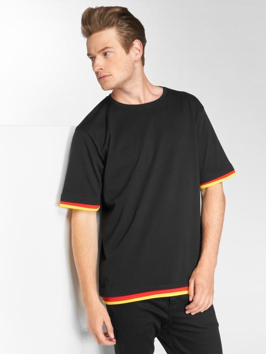 DEF T-Shirty German czarny