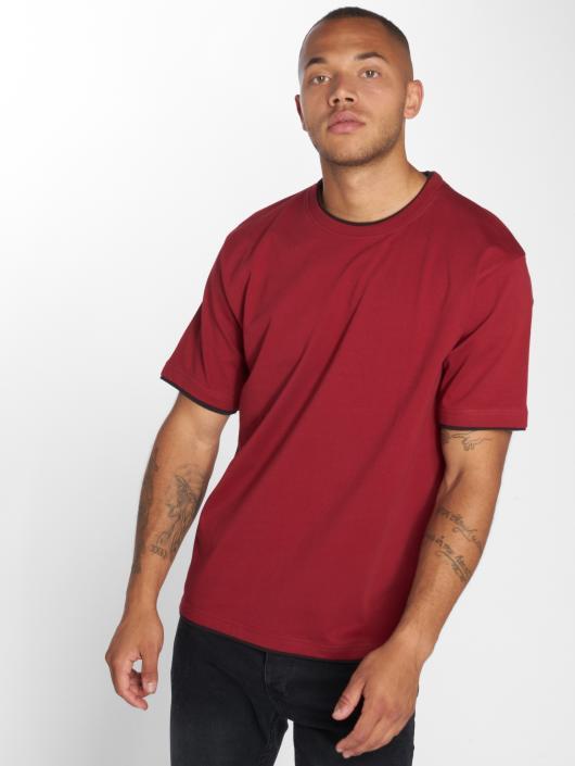 DEF T-Shirty Basic czerwony