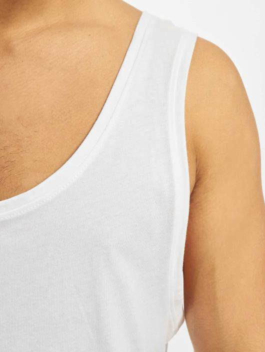 DEF Tank Tops Basic Long weiß