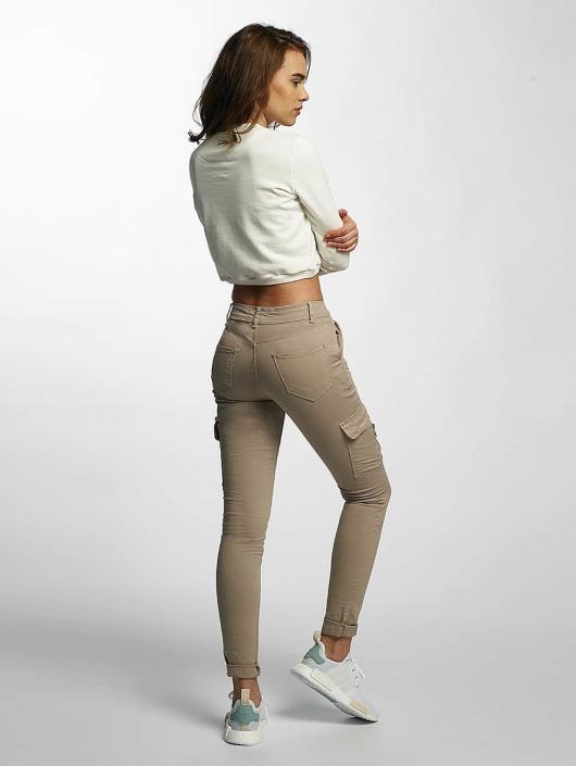 DEF Tynne bukser Luisa beige