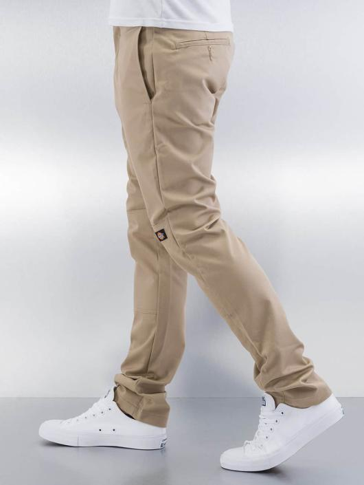Dickies Чинос Skinny Fit Double Knee бежевый