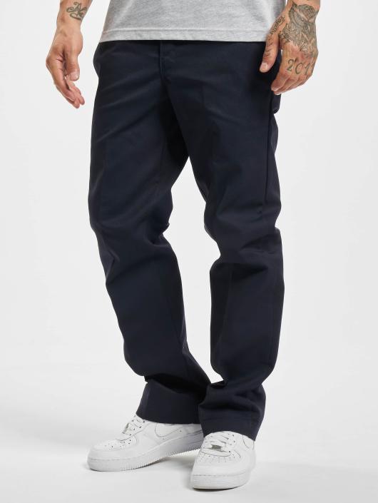 Dickies Cargo Nohavice Slim Straight Work modrá