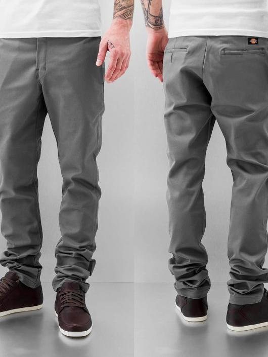 Dickies Chino pants Slim Skinny Work gray