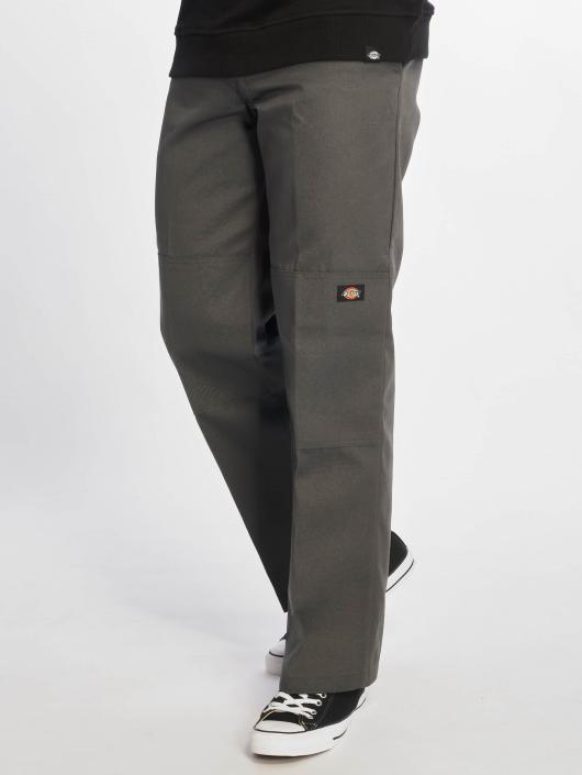 Dickies Chinot/Kangashousut Double Knee Work harmaa