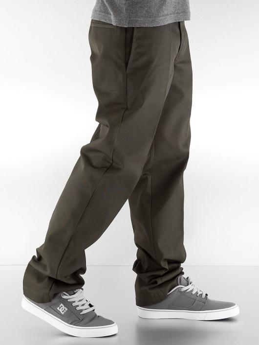 Dickies Chinot/Kangashousut Slim Straight Work vihreä