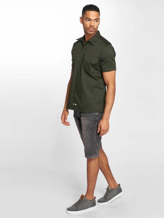 Dickies Shirt Short Sleeve Slim Work green