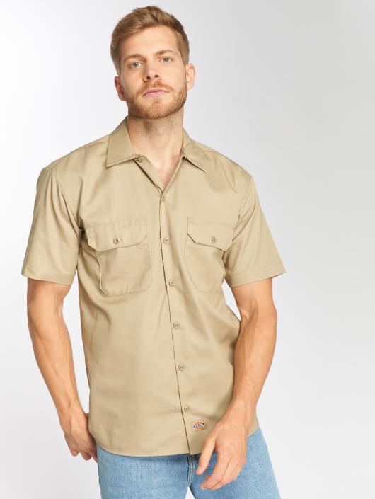Dickies Shirt Shorts Sleeve Work khaki