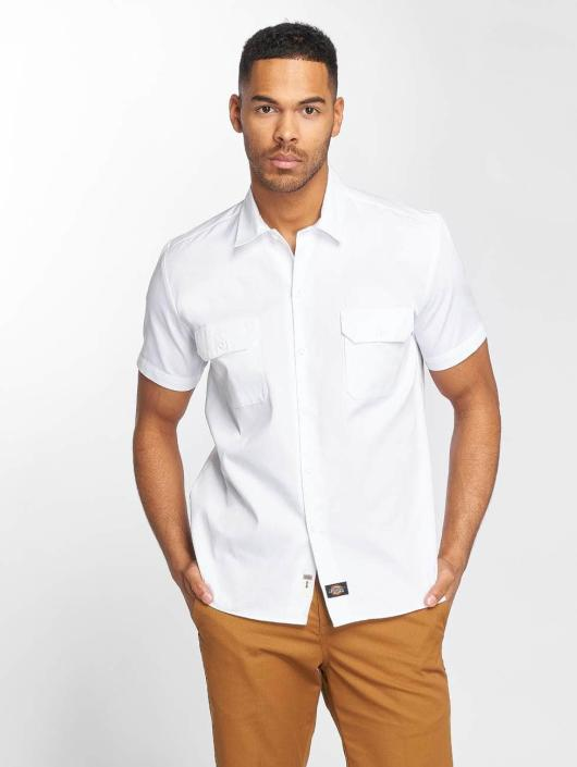Dickies Shirt Short Sleeve Slim Work white