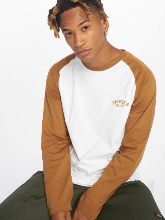 5a66684ae15c ... Dickies T-Shirt manches longues Baseball brun ...