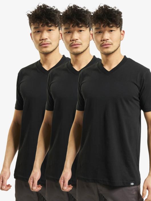 V 3er pack Homme Noir shirt neck Dickies 102432 T b76fgy