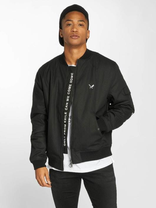 Distorted People Bomberjacke Black Tribe Patched schwarz