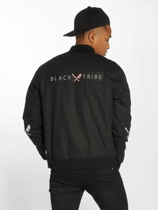 Distorted People Giubbotto Bomber Black Tribe Patched nero