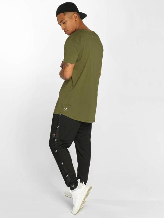 Distorted People t-shirt BB Blades Camo olijfgroen