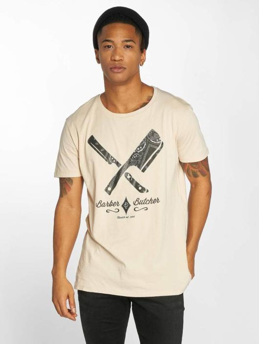 Distorted People T-skjorter Barber & Butcher Paisley beige