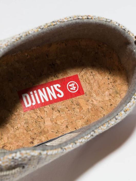 Djinns Sneakers Low Lau Colored Linen gray