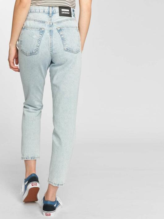 Dr. Denim High Waisted Jeans Nora Ripped To Mom modrá