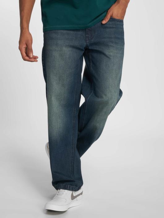 Ecko Unltd. Loose Fit Jeans Globe Grid Loose Fit niebieski