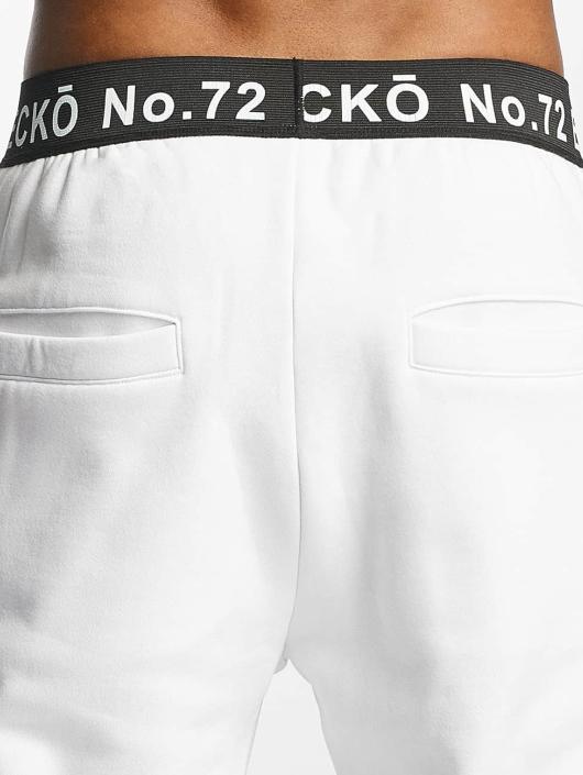 Ecko Unltd. Spodnie do joggingu SkeletonCoast bialy