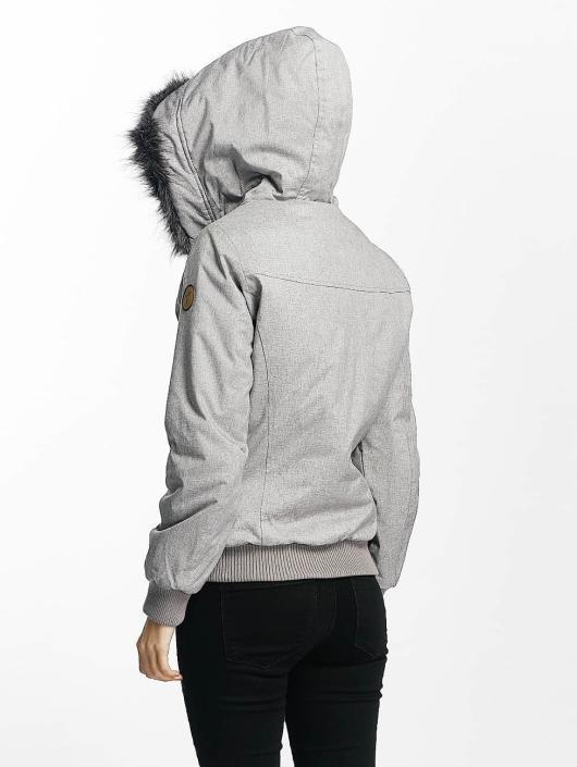 Eight2Nine Manteau hiver Big Hood gris