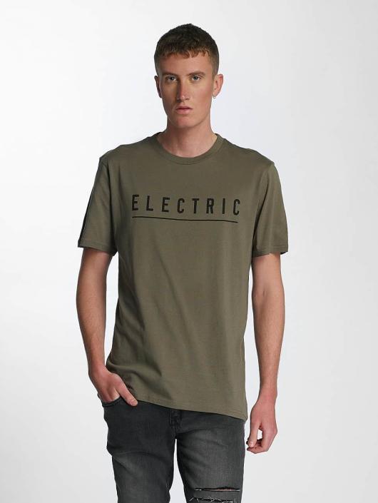 Hombres Camiseta Script in oliva Precioso Electric - Hombre Ropa FOFFTMM