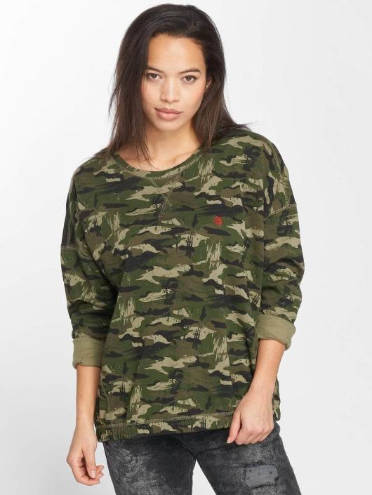 Oversized Camouflage Pull Sweat Crown amp; 411914 Femme Element 5fWxTwqx