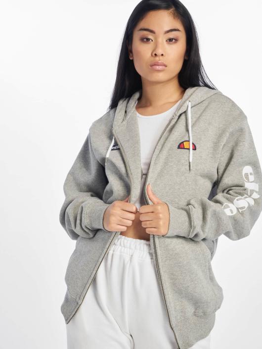 Veste capuche grise femme