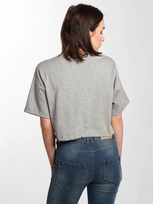 Ellesse Alberta Cropped T Shirt Ath Grey Marl