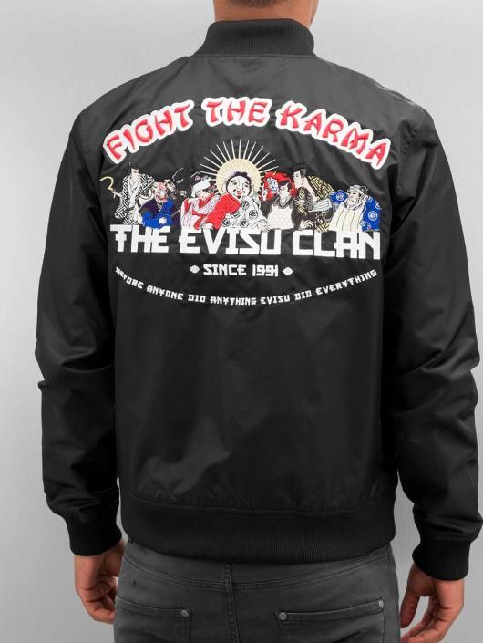 EVISU Veste mi-saison légère Fight The Karma noir